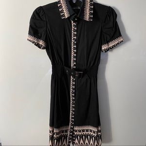 Collared Belted Mini Dress